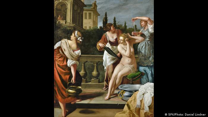 Ausstellung Wege des Barock; Gemälde Bathseba im Bade von Artemisia Gentileschi. (SPK/Photo: Daniel Lindner )