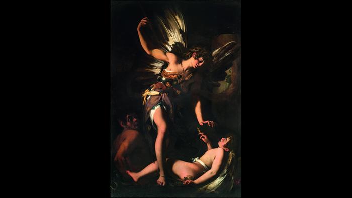 Ausstellung Wege des Barock; Gemälde Himmlische und irdische Liebe von Giovanni Baglione. Foto: Gallerie Nazionali di Arte Antica –Bibliotheca Hertziana, I