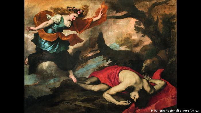 Ausstellung Wege des Barock; Gemälde Venus und der sterbende Adonis von Jusepe de Ribera. (Gallerie Nazionali di Arte Antica )