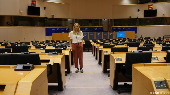 Belgien Brüssel   Kira Peter-Hansen, jüngste Abgeordnete im Europäischen Parlament,
