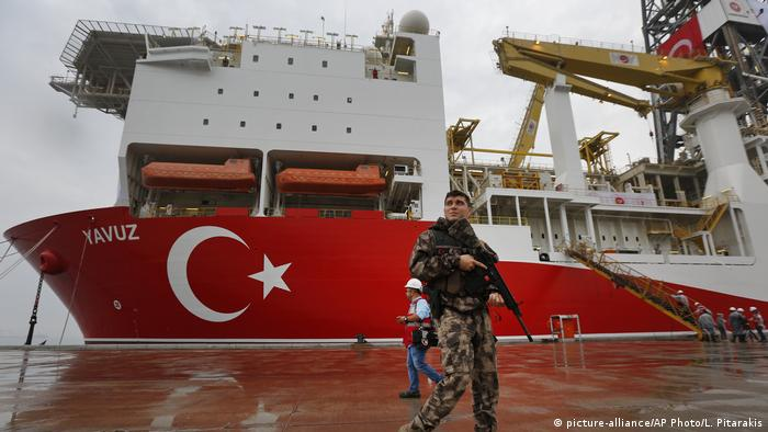 Turkish police officer at port of Dilovasi