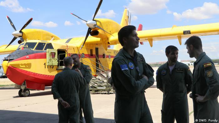 Pilots with Canadair aircraft