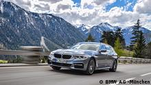 A BMW in the mountains of Europe (BMW AG -München)