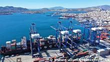 Griechenland Piraeus Hafen (picture-alliance/Photoshot/W. Lu)