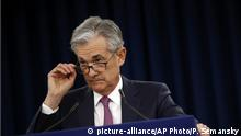 FILE - In this May 1, 2019, file photo Federal Reserve Board Chair Jerome Powell speaks at a news conference following a two-day meeting of the Federal Open Market Committee in Washington. Powell says the Fed's annual stress tests of the nation's largest banks will need to evolve to keep pace with a changing financial system. (AP Photo/Patrick Semansky, File) |