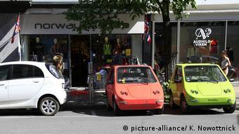 Электромобили на улицах Осло