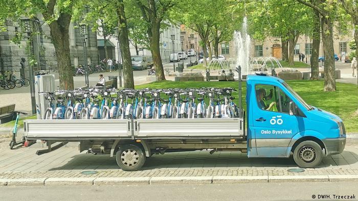 Norwegen   Fahrradständer in Oslo