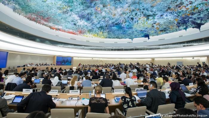 Schweiz Sitzung UN-Menschenrechtsrat in Genf (picture-alliance/Photoshot/Xu Jinquan)