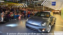 The last VW Beetle, made in Mexico
