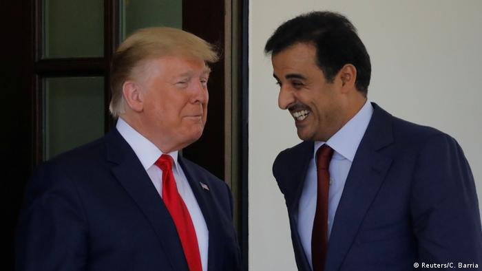 USA Donald Trump und Tamim bin Hamad al-Thani (Reuters/C. Barria)