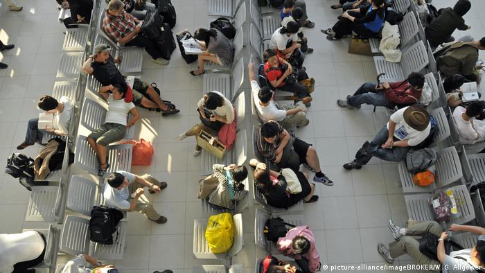 Passengers waiting in Bangkok