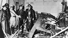 Göring, Bormann visit Wolf's Lair after the bomb attack of July 20, 1944 (picture-alliance/akg-images)