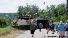 Ukraine Donbass Frontlinie Stanyzja Luhanska