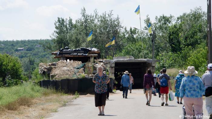Колишні передові укріплення української армії