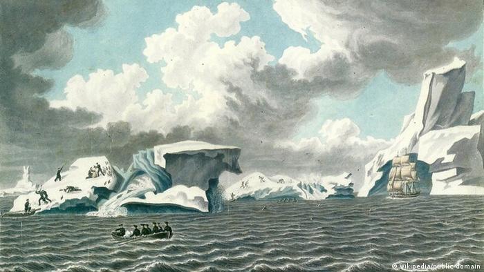 Антарктида. Рисунок участника эспедиции Павла Михайлова