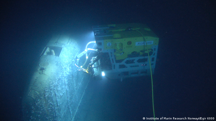 The Rov Ægir 6000 underwater research vessel