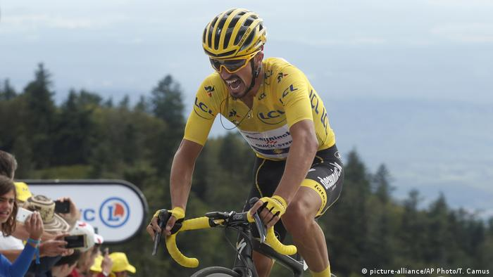 Tour de France 2019 | 06. Etappe | Julian Alaphilippe, Frankreich (picture-alliance/AP Photo/T. Camus)