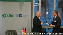 Lateinamerika-Tag in Hamburg 2009: Troncoso und Liesenfeld. (Copyright: Lateinamerika Verein e.V., Michael Zuchold) 01.12.2009 Pressebild Quelle: www.lateinamerikaverein.de