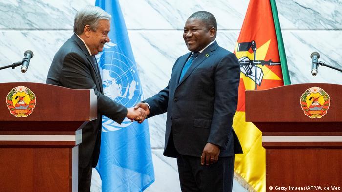 Mosambik Maputo | Antonio Guterres, UN-Generalsekretär & Filipe Nyusi, Präsident