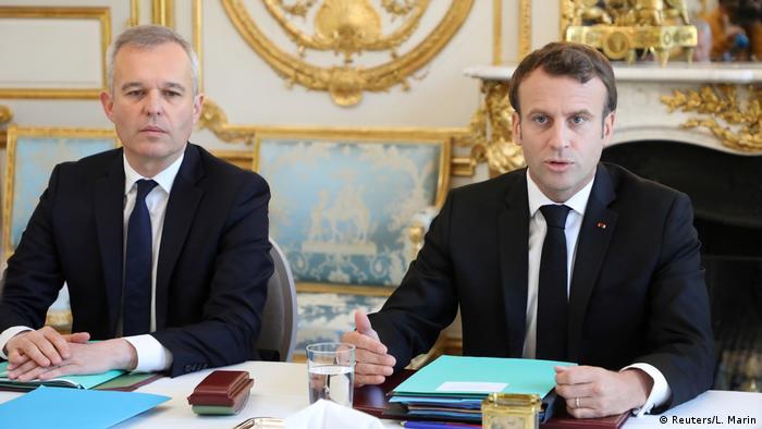 François de Rugy and President Emmanuel Macron