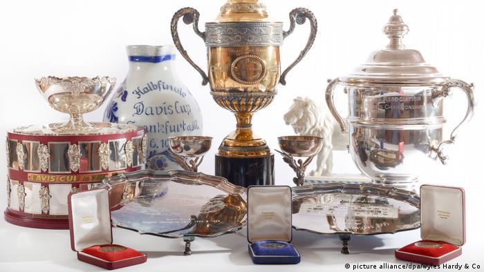 Trophies and memorabilia belonging to Boris Becker