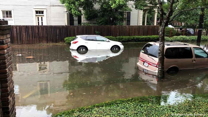 Flooded street in New Orleans