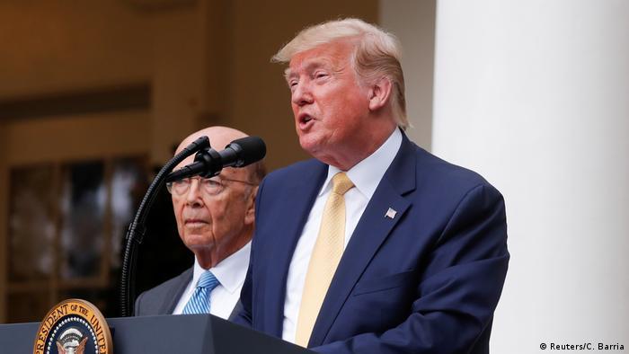 Presidente dos Estados Unidos, Donald Trump, discursa na Casa Branca