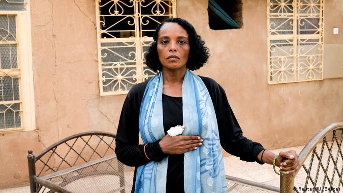 Khadija Saleh, 41, political activist and blogger, poses for a photograph in Khartoum, Sudan, June 28, 2019.