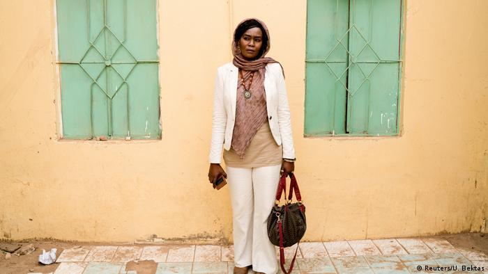 Nagda Mansour, 39, translator, poses for a photograph in Khartoum, Sudan, June 29, 2019.