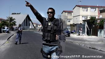 Police in Township Mannenberg, Cape Town