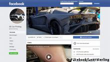 Screenshot Facebook 3D Car Printing