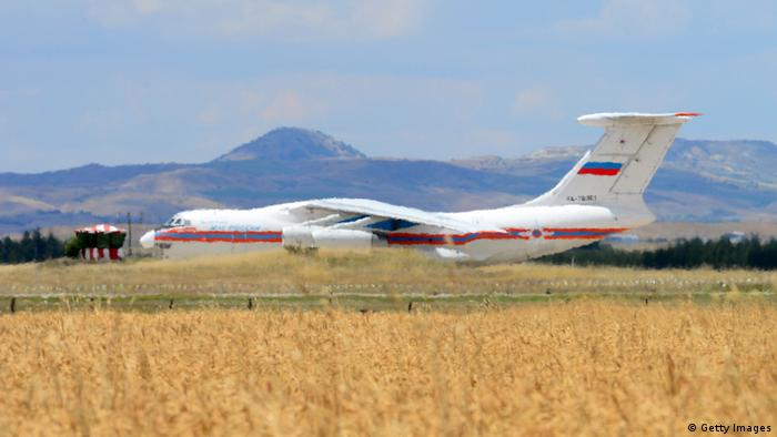 A Russian cargo plane delivers parts of the S-400 air defense system (Getty Images)
