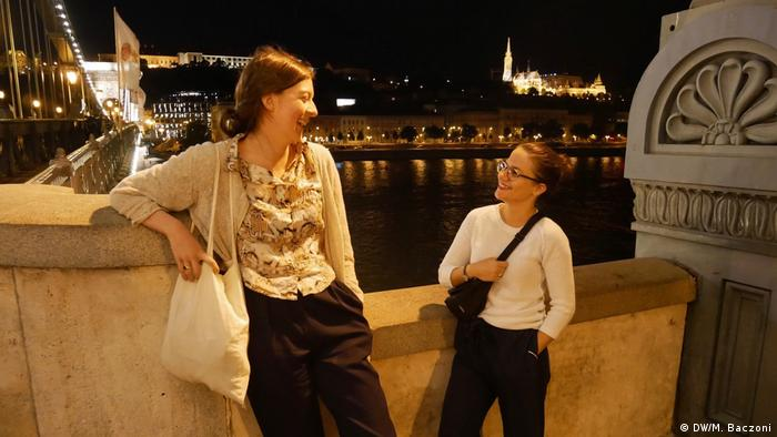 Luisa von Richthofen (left) and Giulia Saudelli in Budapest, Hungary