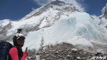 Mariam Ktiri deutsch-marokkanische Bergsteigerin, oberhalb des Everest-Basislagers. Copyright: Mariam Ktiri