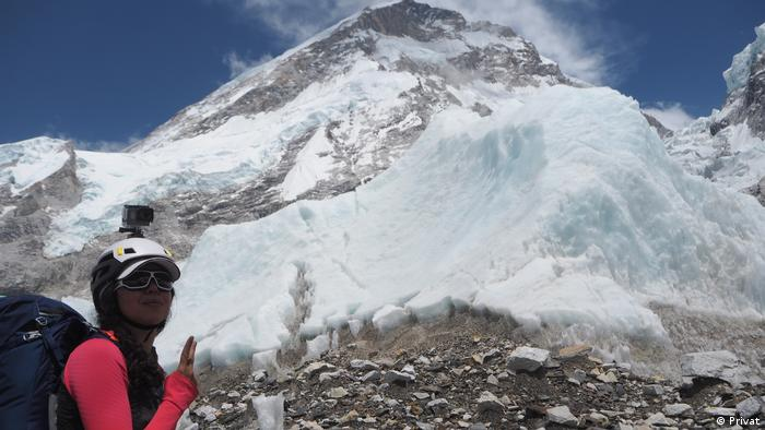 Mariam Ktiri deutsch-marokkanische Bergsteigerin