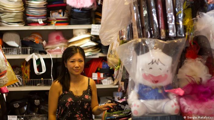Lina Jin, owner of PartyWan, a shop selling objects for parties