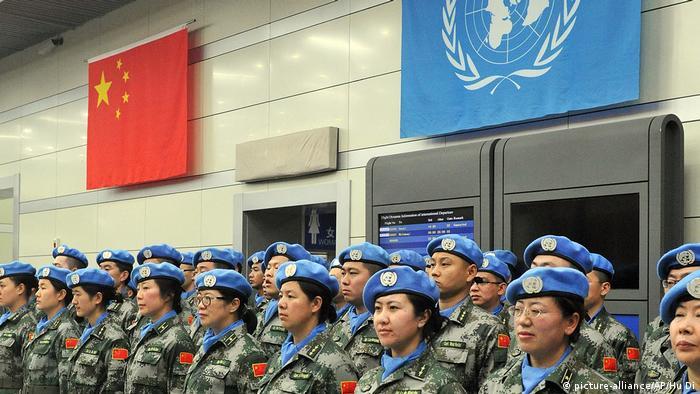 Chinesische UN-Soldaten für Mali (picture-alliance/AP/Hu Di)