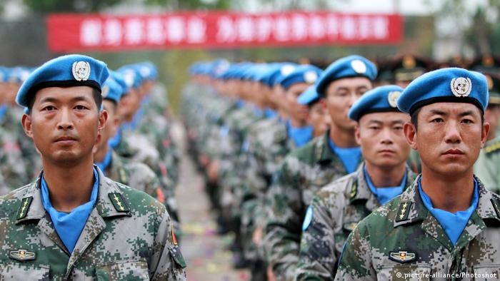 Chinese troops for the UN peacekeeping mission in South Sudan