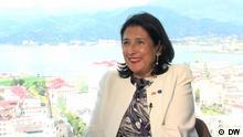 DW-Interview mit der georgischen Präsidentin Salome Surabischwilli
