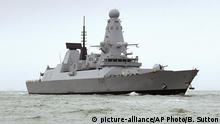 Britisches Kriegsschiff HMS Duncan