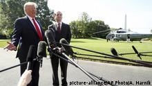 USA Washington Weißes Haus | Präsident Donald Trump & Alex Acosta, Arbeitsminister