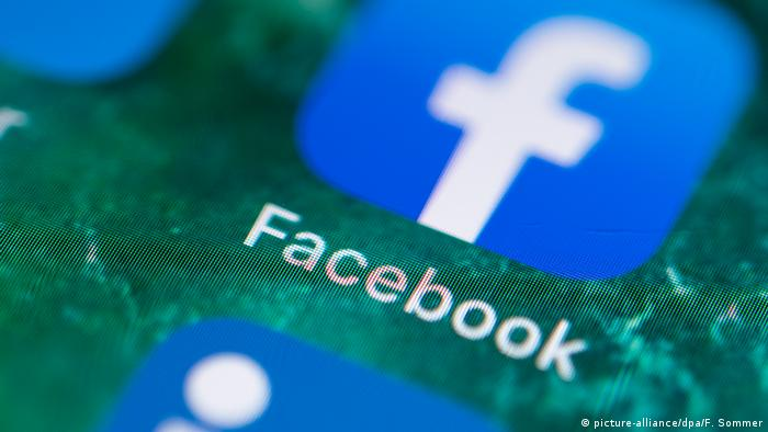The Facebook app on an iPhone