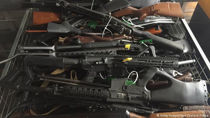 Neuseeland Christchurch Waffenabgabe nach Gesetzesänderung (Getty Images/New Zealand Police)
