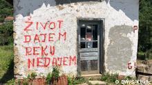 Protest gegen Mini-Wasserkraftwerk Serbien