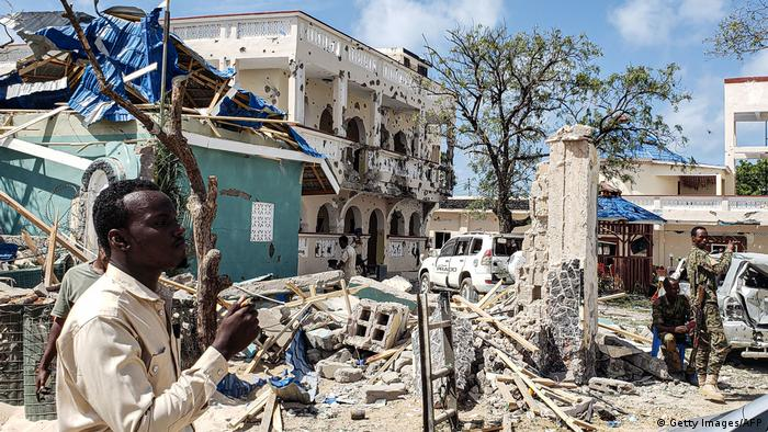 Somalia Angriff auf Hotel in Kismayo (Getty Images/AFP)