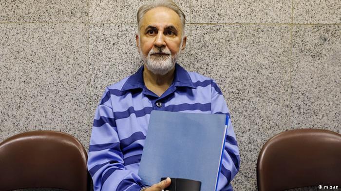 Teherans Ex-Oberbürgermeister Mohammad Ali Najafi vor Gericht (mizan)