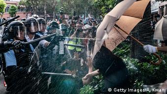 Hong Kong | Proteste in Sheung Shui