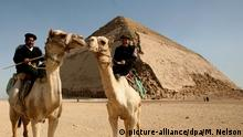 Ägypten: Gizeh: -Bent Pyramid - Knickpyramide (picture-alliance/dpa/M. Nelson)