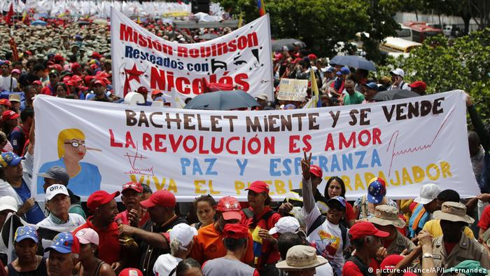 Venezuela, Caracas: Demonstrationen gegen Bericht der UN