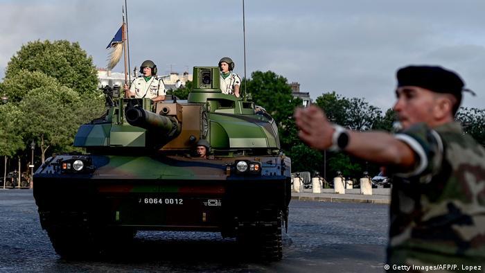 A French Char Leclerc tank